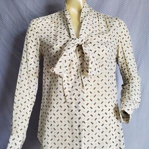 Banana Republic Tie Collar Blouse